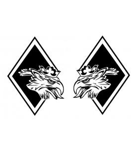 Stickers Losange Griffon décalé