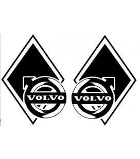 Stickers Losange Volvo décalé