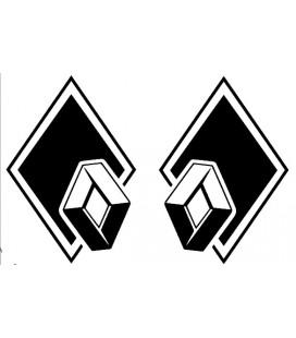 Stickers Losange Renault décalé