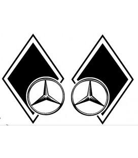 Stickers Losange Mercedes décalé