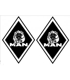 Stickers Losange MAN lion