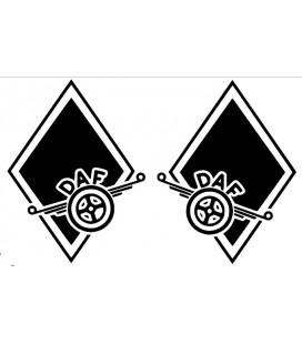 Stickers Losange DAF décalé