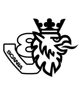 Stickers Scania Griffon classique V8