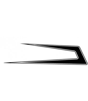 Flèches Danoises pleine avec contour
