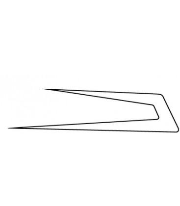 Flèches Danoises vide avec contour