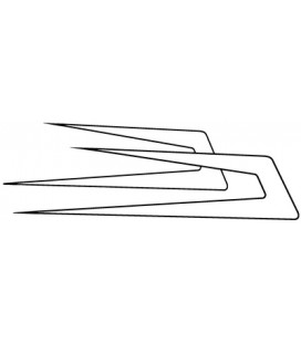 Flèches Danoises vide avec contour par deux