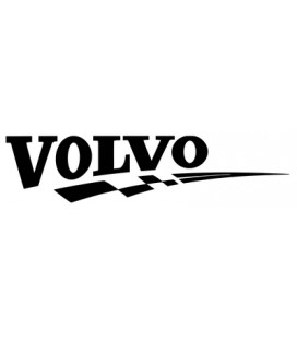 Stickers Volvo damier droit