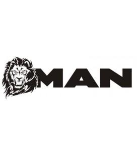 Stickers Man petite tête lion