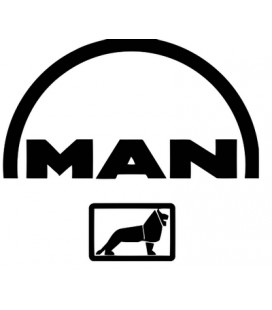 Stickers logo Man + lion