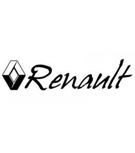 Stickers logo Renault et lettrage