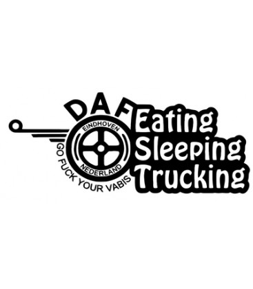 Daf eating sleeping trucking