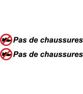 """stickers pas de chaussures """"Pas de chaussures"""" N°3"""