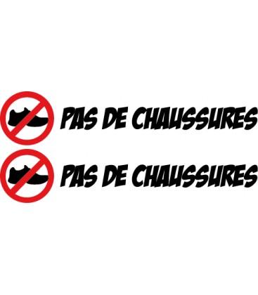"""stickers pas de chaussures """"Pas de chaussures"""" N°2"""