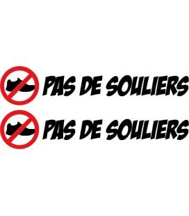 """stickers pas de chaussures """"Pas de souliers"""" N°3"""