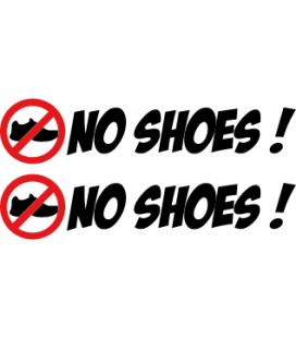 "stickers pas de chaussures ""No Shoes !"" N°3"