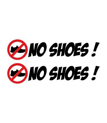 """stickers pas de chaussures """"No Shoes !"""" N°3"""