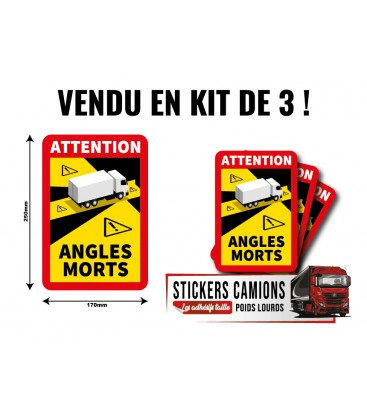 3 Stickers OFFICIEL ANGLES MORTS